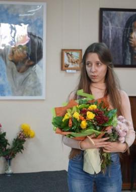 Відкриття першої персональної виставки картин Анни Тимків