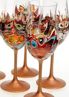 Фотовиставка  робіт авторської техніки розпису на склі Олександри Гусєвої