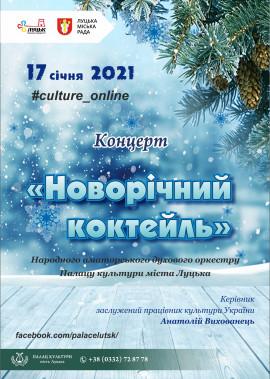 """""""Новорічний коктейль"""" концерт народного аматорського духового оркестру"""