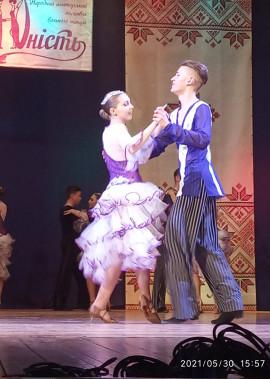 """Творчий звіт народного аматорського ансамблю бального танцю """"Юність"""""""