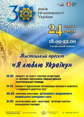 """Мистецький проєкт """"Я люблю Україну"""""""